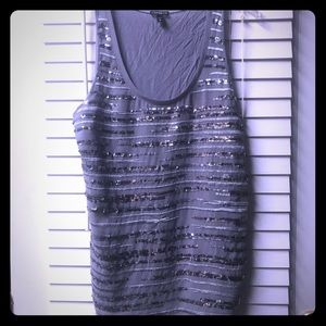 Silver Sequined Tank by Express